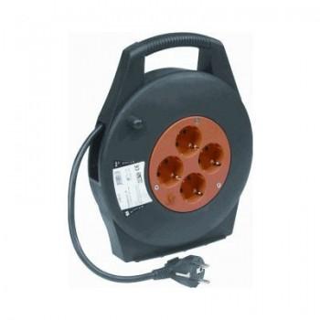 Kabelhaspel 3 x 1,5mm2 / 4-voudig / 10m / IP20