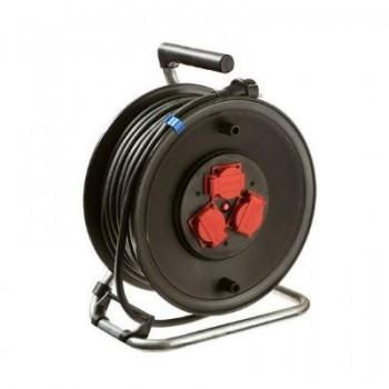 Kabelhaspel 3 x 2,5mm2 / 3-voudig / 25m / IP44