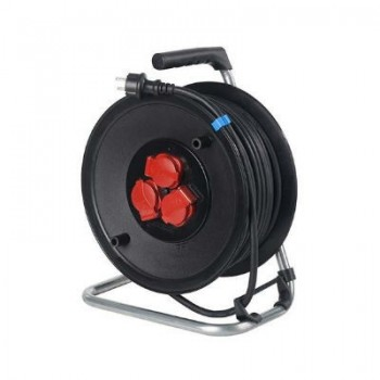 Kabelhaspel 3 x 2,5mm2 / 3-voudig / 40m / IP44