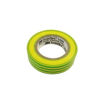 Isolatietape 19mm x 20m Geel / Groen