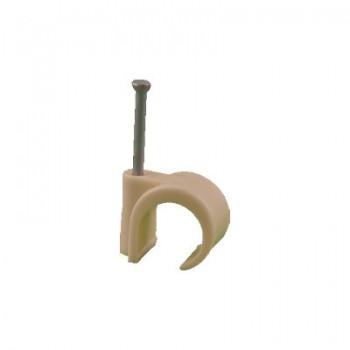 Spijkerclips 16 - 19 mm CREME (voor 16 en 19 mm buis)