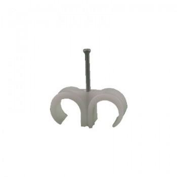 Spijkerclips duo 16 - 19 mm TRANSPARANT (voor 16 en 19 mm buis)