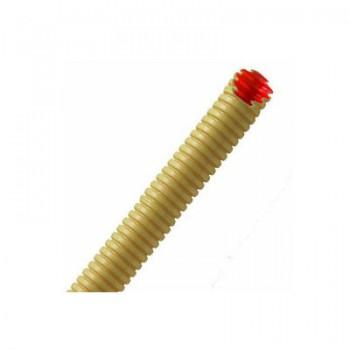 Low friction ribbelbuis 16mm creme met rode binnenmantel(100 M)