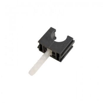 Klembeugel + plug 19mm (3/4) grijs