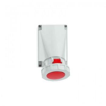 CEE wandcontactdoos 63 Ampere 4-polig plus aarde ( 5-polig )