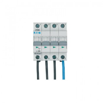 Eaton Holec - Installatieautomaat 16A, 4p, B-kar.( 55 Flex ON) montage boven aardlekschakelaar