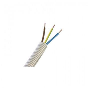 Kunststof installatiebuis bedraad 16 mm, 1-ader, bruin, blauw, geel/groen 2,5 mm2 [ 50 meter]