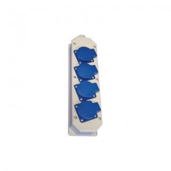 Contactdoos 4V grijs/kunststof met deksel