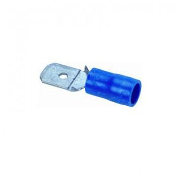 Vlaksteker blauw 6,3x0,8 (100 stuks)