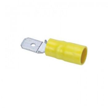 Vlaksteker geel 6,3x0,8 (100 stuks)