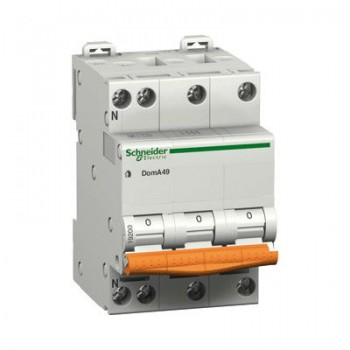 Schneider Domae installatieautomaat 20A, 3P+N, C-karakteristiek
