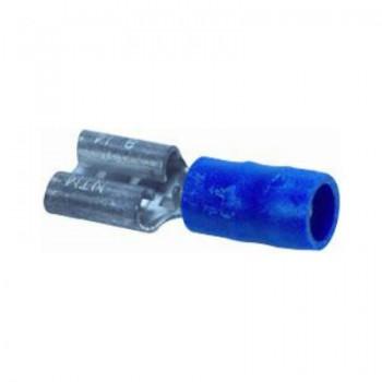 Vlakstekker blauw, half geisoleerd