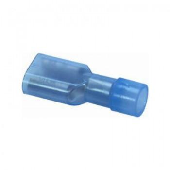 Vlakstekker blauw, geisoleerd