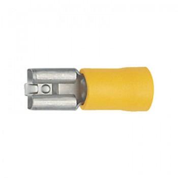 Vlakstekker geel, half geisoleerd