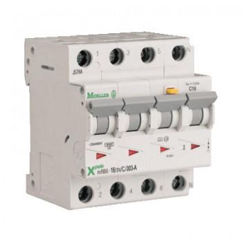 Eaton aardlekautomaat 20A, 3P+N, C-karakteristiek