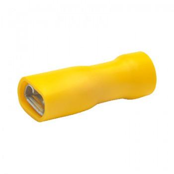Vlakstekker geel, geisoleerd