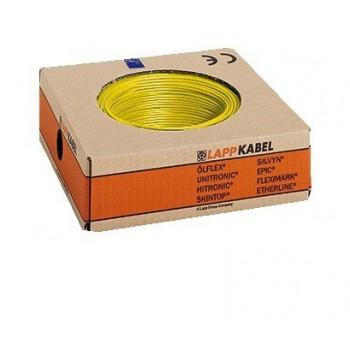 Montagedraad H05V2-K 90° 0,5mm2 geel