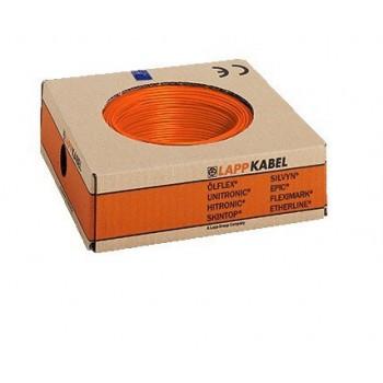 Montagedraad H05V2-K 90° 0,5mm2 oranje