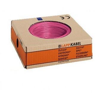Montagedraad H05V2-K 90° 0,5mm2 roze