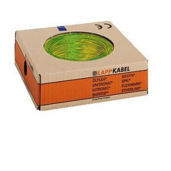 Montagedraad H07V-K 70° 1,5mm2 groen/geel