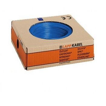 Montagedraad H07V-K 70° 4 mm2 blauw