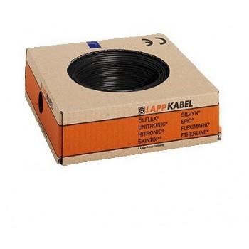 Montagedraad H07V-K 70° 4 mm2 zwart