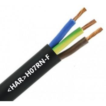 3 x 4 mm2 Dompelbare Neopreenkabel (HAR) (t/m 99 meter)
