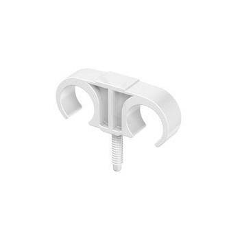 Plugclip kunststof dubbel 25 - 30 mm