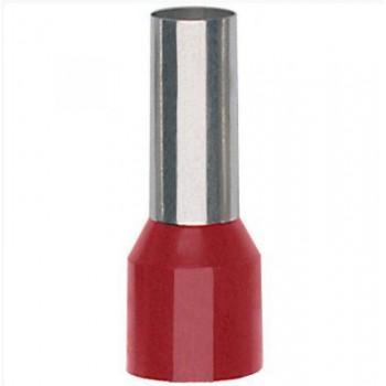 Geïsoleerde adereindhuls 95 mm2 in rood