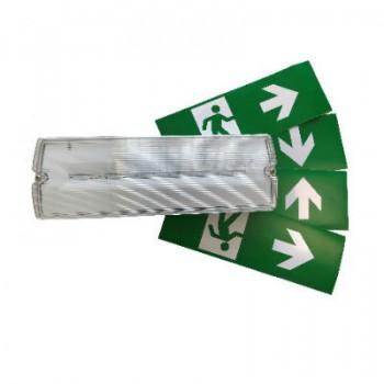 LED noodverlichting waterdicht (IP65), 3 watt, zelftestknop 3 uurs accu