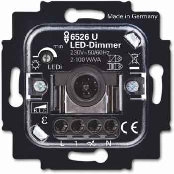 Busch-Jaeger Universele Inbouw dimmer 6523 U SI Linear 100VA LED 250W/VA