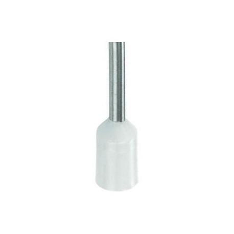 Geïsoleerde adereindhuls 0,5 mm2 in wit