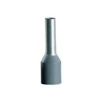 Geïsoleerde adereindhuls 0,75 mm2 in grijs. Per 100 stuks.