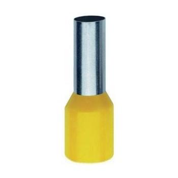 Geïsoleerde adereindhuls 6 mm2 in geel. Per 100 Stuks.