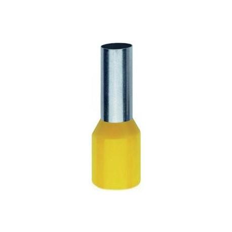 Geïsoleerde adereindhuls 6 mm2 in geel