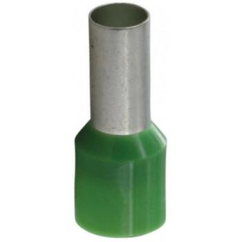 Geïsoleerde adereindhuls 16 mm2 in groen