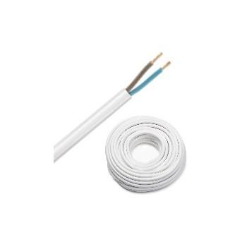 VMvL mantelleiding H05VV-F 2X1,5 mm2 wit