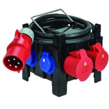 Bouwkast rubber Ergo IP44 5 meter snoer met CEE contactstop