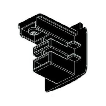 XTS41-2 3Fase Eindkap Zwart