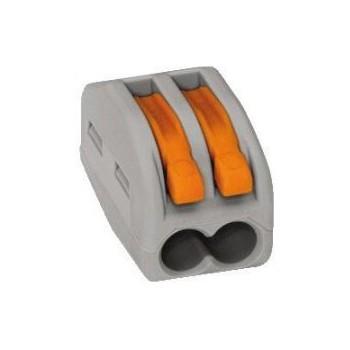 Wago 222-412 verbindingsklem 2 draads klem met hefboombediening (t/m 4mm2) ( per 50 stuks )