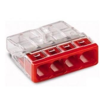 Lasklem 4-voudig transparant rood