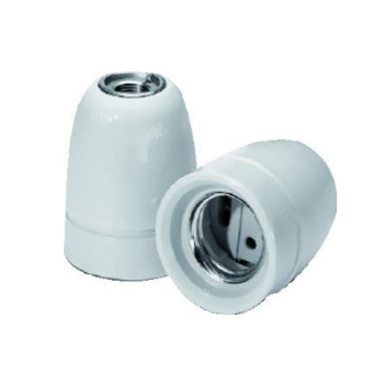 Lamphouder E27  M10 Porselein Wit